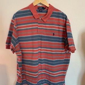 Polo Ralph Lauren Red Blue Desert Stripe XXL